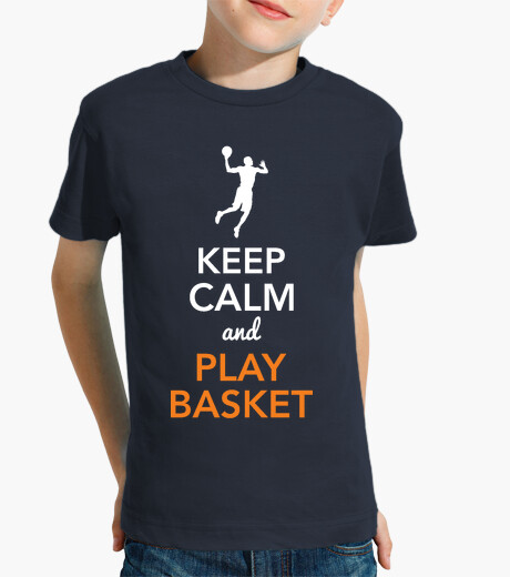 Keep calm and play basketball (child) kids clothes