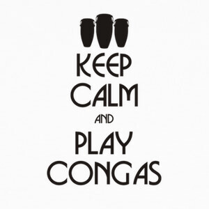 Camisetas Keep calm and play congas