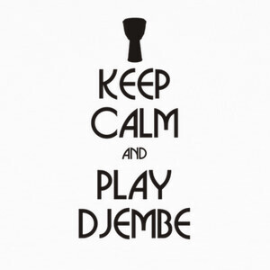 Camisetas Keep calm and play djembe