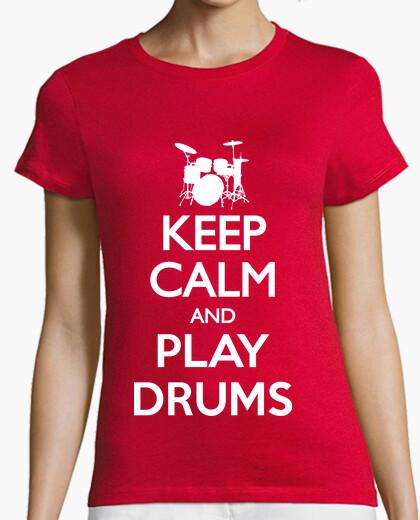 Tee-shirt Keep Calm and Play Drums