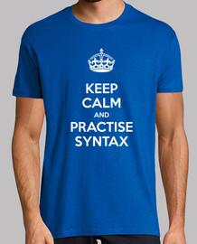Keep Calm and Practise Syntax Hombre Azul
