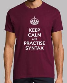 Keep Calm and Practise Syntax Hombre Burdeos