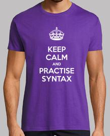 Keep Calm and Practise Syntax Hombre Morada