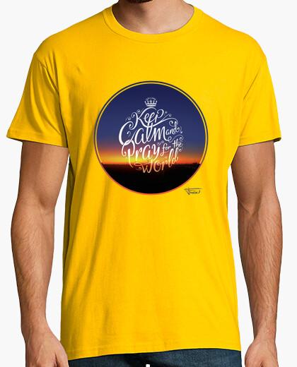 Keep calm and pray for the world - t shirt - t shirt h t-shirt