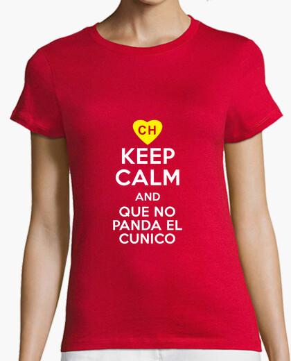 Tee-shirt Keep Calm and Que no Panda el Cunico
