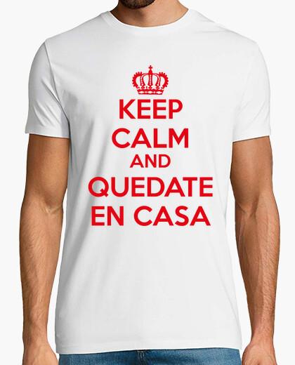 Camiseta keep calm and quedate en casa