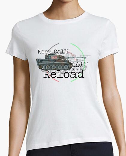 Tee-shirt keep calm and recharger le tigre