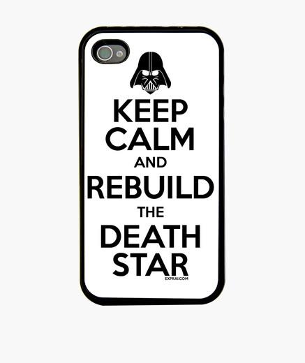 Coque iPhone keep calm and reconstruire l'étoile de la mort