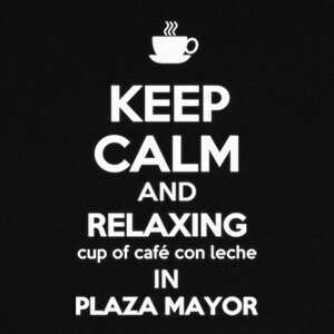 Camisetas KEEP CALM AND RELAXING CUP OF CAFÉ CON L