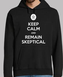 Keep calm and remain skeptical - Sudadera