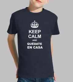 keep calm and reste à la maison
