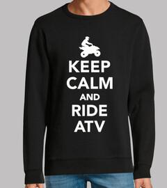 keep calm and ride atv