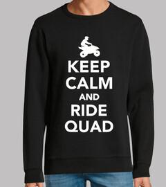 keep calm and ride quad
