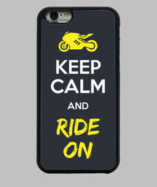 keep calm and ride sulla cover iphone 6