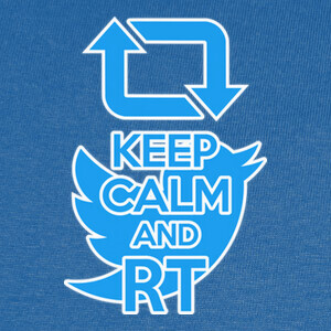 Camisetas keep calm and rt (twitter)