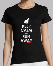 keep calm and run loin!