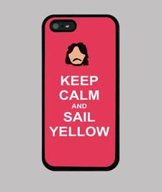 Keep calm and sail yellow iPhone5