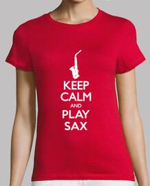 keep calm and sax