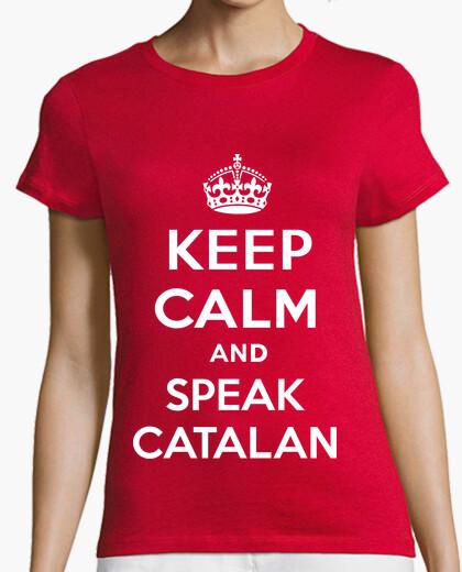 Tee-shirt Keep Calm and Speak Catalan