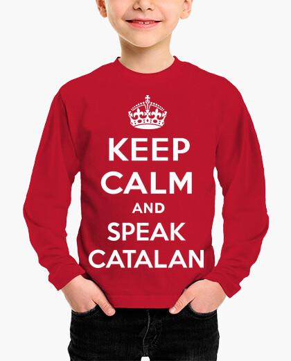 Ropa infantil Keep Calm and Speak Catalan