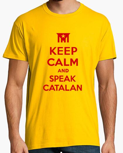 Camiseta Keep Calm and Speak Catalan