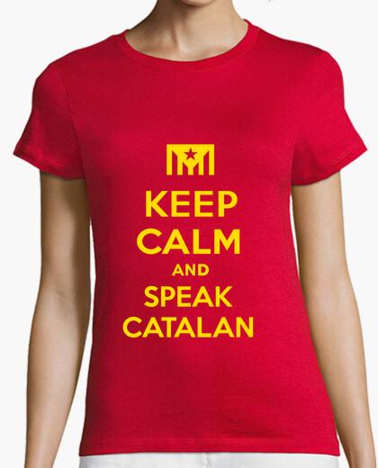 Keep calm and speak catalan 2 t-shirt