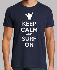 Keep calm and surf on (foncé)