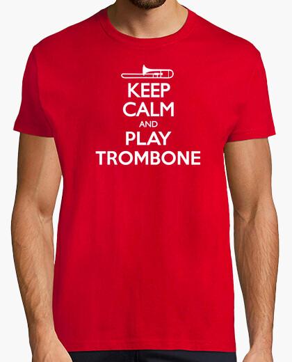 Camiseta Keep Calm and Trombone