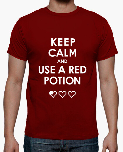 Tee-shirt Keep Calm and use a red potion