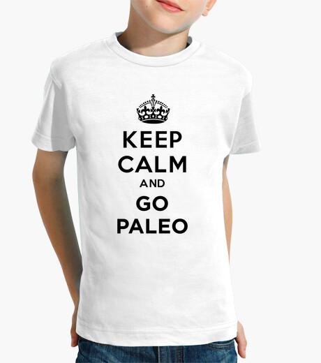 Vêtements enfant keep calm and va paléo noir