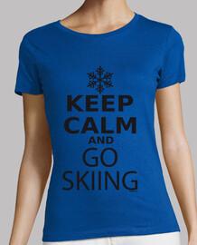 keep calm and va skier femme