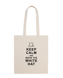Keep calm and wear white hat