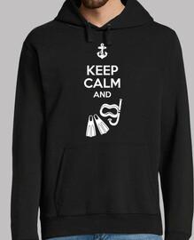 keep calm blanc