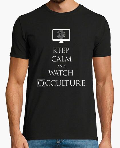 Keep calm camiseta blanca para hombre