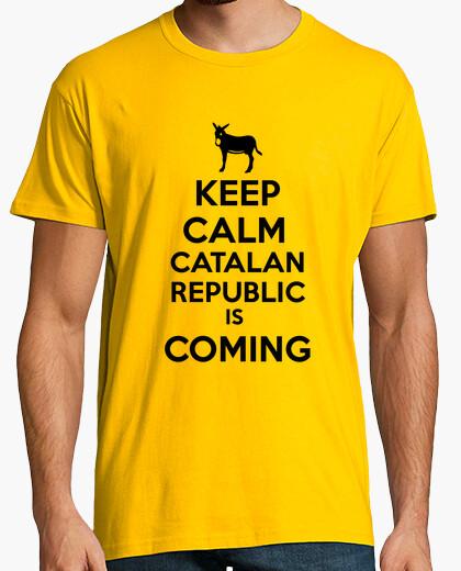 Camiseta Keep Calm catalan repubic is coming hombre