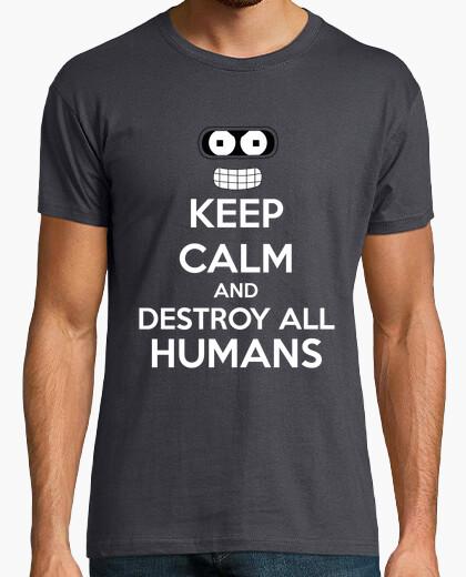 Camiseta Keep Calm Destroy All Humans