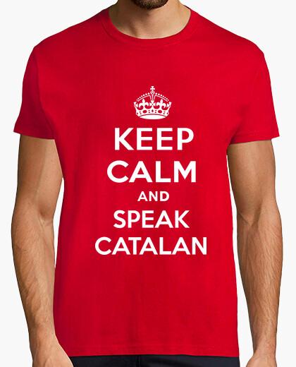T-shirt keep calm di un catalano parlare