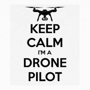 Camisetas keep calm drone pilot