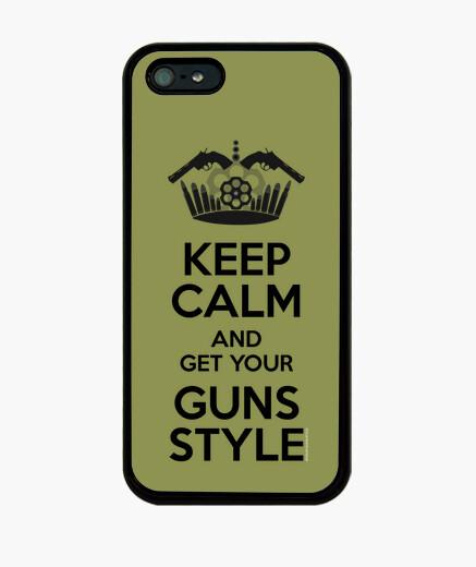 Funda iPhone Keep Calm, Guns Style
