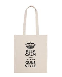Keep Calm, Guns Style Bolsa