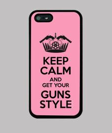 Keep Calm, Guns Style Funda