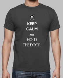 keep calm hold door