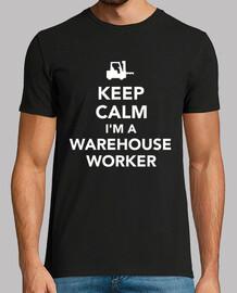 keep calm im a warehouse worker