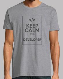 keep calm je suis un développeur