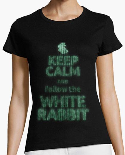 Tee-shirt keep calm lapin blanc