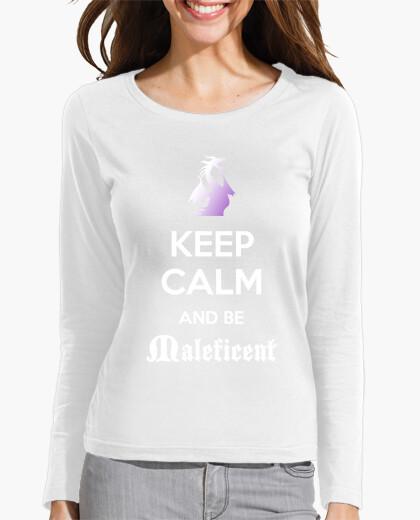 Camiseta Keep calm Maléfica - Chica morado