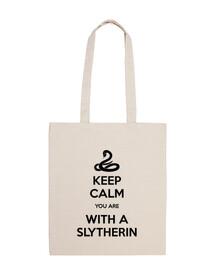 Keep Calm Slytherin bolsa