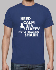 keep calm son un staffy not paniquer requin