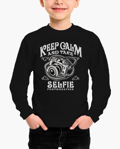 Ropa infantil Keep Calm Take Selfie  Body bebé, azul cielo