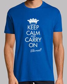Keep calm Vila-real (blue)